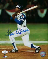 BRAVES Hank Aaron signed 715 HR photo 8x10 JSA COA AUTO Autographed Atlanta