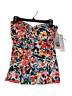 Anne Cole Womens Removable Straps Floral Multicolor Tankini Swim Top Size XS/XL