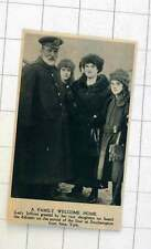 1920 Lady Jellicoe Greeted By Her Two Daughters On Liner Adriatic Southampton
