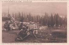 Z404) WW1 FIUME, IL BATTAGLIONE ALPINI MORBEGNO SUL FRONTE DEL CIMITERO.