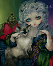 Jasmine Becket-Griffith art print rococo pet Signed Princess with a Ragdoll Cat