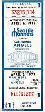 1977 INAUGURAL GAME SEATTLE MARINERS FULL TICKET STUB VS. CALIFORNIA ANGELS