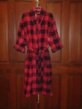Cypress Unisex Red/Black Checkered Bath / Beach Robe Size Large New With Tags