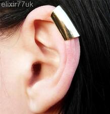 NEW GOLD LONG SMOOTH CARTILAGE HELIX EAR CUFF CLIP WRAP GOTHIC PUNK EARRING GIFT