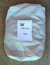 25KG BAG OF FIRE CLAY TO MAKE REFRACTORY - FURNACE - KILN  - PIZZA OVEN (65520)