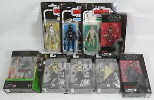 Lot 9 Hasbro Star Wars Black Series Figures Boba Fett Bespin Luke Troopers Zorii