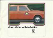 BL AUSTIN MINI/CLUBMAN/1275GT, ALLEGRO, MAXI, 1800/2200 SALES BROCHURE 1974 1975