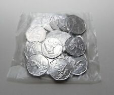 2017 Mr Jeremy Fisher Full Bag Of Unc x20 50P Coins - Beatrix Potter 50p coin