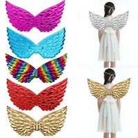 """Kids Children Glossy Metallic Angel Wings for Photography Masquerade Cosplay 17"""""""