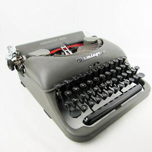Vintage working typewriter Remington Rand Model 5 grey portable