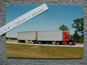 150mmX100mm DOUBLES FORD LN9000 TRUCK AMERICAN TRUCKING PHOTO