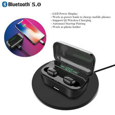 Bluetooth Earbuds 5.0 Wireless Headphones Stereo Earphone w/ LED Qi Charging Box