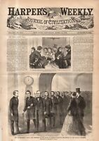 1868 Harper's Weekly April 11 - Andrew Johnson Impeachment Trial Begins - Cover