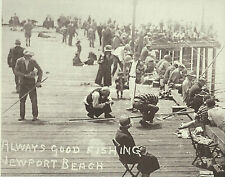 "NEWPORT BEACH Sport Fishing Boat Louise Ad VINTAGE Photo Print 1475 11/"" x 14/"""