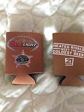 2 RARE Texas FOOTBALL Rivalry LONGHORNS A&M AGGIES Coors Light beer koozie
