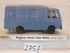 Brekina 1/87 34512 Magirus 90 D6 Zeta LKW Kasten taubenblau OVP #2757