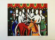 MARK KOSTABI serigrafia + cornice La giostra 79x57 luna park quadro grecoarte