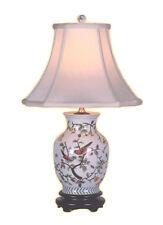 "Chinese Porcelain Bird on Floral Twig Motif Vase Table Lamp 20.5"""