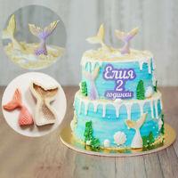 3D Mermaid Tail Silicone Mould S L Mold Scale Fondant Cake Sugar Chocolate Decor