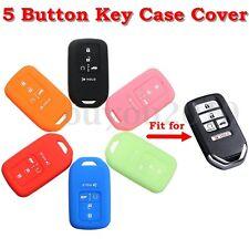 Silicone Remote Key Case Fob Cover Holder For 15- Honda Civic Accord Cr-v Pilot