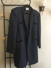 Teddy Boy Drape Jacket HALF COLLAR 1950s NAVY BLUE.Rock and roll NEW SIZE RANGE