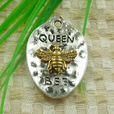 43x38mm 30pcs tibetan silver gold plated QUEEN BEE charms pendant S4694