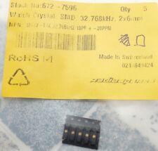 Micro Crystal MS1V-T1K 32.768kHz 10pF +-20ppm SMD, 6 x 2 x 2mm Qté 5