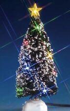 NEW 2017 LEMAX CHRISTMAS VILLAGE MULTI LIGHT EVERGREEN TREE, MEDIUM, 4.5V #74266