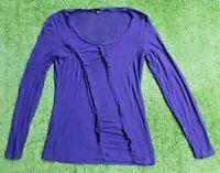 Saba Women's  Stretchy Long Sleeve Purple Top Size 10