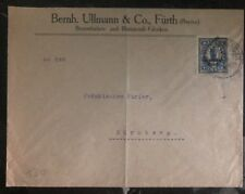 1930s Bayern Germany Commercial Cover Nuremberg