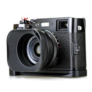 LH-E3P Square Metal Lens Hood for Fujifilm X100S X100T X70 X100F X100V Black