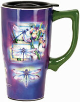 SPOONTIQUES 12671 DRAGONFLY TRAVEL MUG