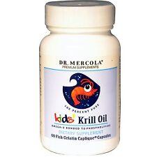 Aceite de krill Niños, 60 cápsulas de gelatina caplique de pescado-Dr. Mercola
