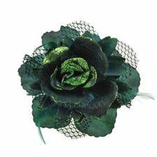 Accessoires de coiffure pinces à cheveux verts pour femme