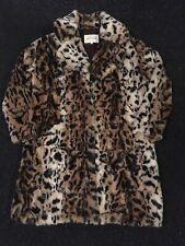 River Island Brown Leopard Print  Faux fur  Coat....SIZE 10