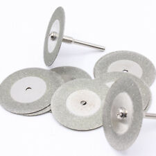 10x Diamant Trennscheiben 50mm Schmuck Glas Metall Schleifscheibe + Dorn / D29