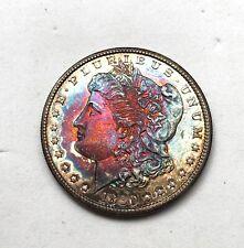 1880-S- U.S. Morgan Silver Dollar, Rainbow Toning, Please See Other Morgans