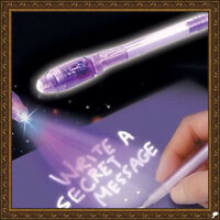 Novely Purple 2 In 1 UV Black Light Combo Creative Stationery Invisible Ink Pen