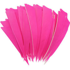 Archery Fletches 5inch Shield Cut Pink Feather Fletching RW - 50PCS