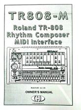 Roland TR808-M Rhythm Composer MIDI Interface OWNER'S MANUAL