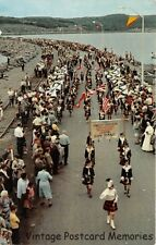 CAPE BRETON NS CANADA 1955 March of the 100 Pipers on Canso Causeway Dedication