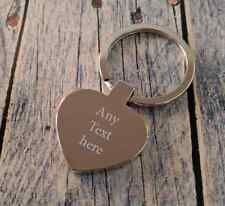 Personalised Engraved Heart Keyring - Great Personalised Gift - Mirror Polished