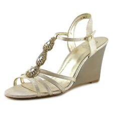 Zapatos de tacón de mujer de piel color principal oro talla 38