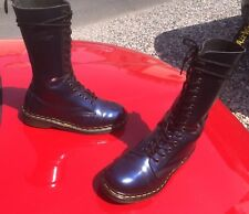 Vintage Dr Martens 1914 Blue shimmer boots UK 6 EU 39