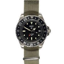 MWC Swiss GMT Quarzo 300m Acciaio Submariner Tessuto Nero Grigio Uomo Orologio