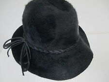 True Vintage Damenhut Schwarz Mohair Größe ca. 55 **S21*