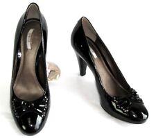 GEOX Zapatos tacones 9 cm todo charol negro 38 MUY BUEN ESTADO