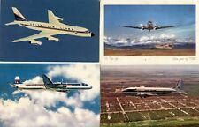 Aviation Planes Photo Flights Postcard Collection DELTA Mackey Trans American