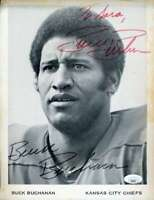 Buck Buchanan JSA Coa Autograph Hand Signed 8x10 Photo