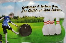 Giant Inflatable Bowling Ball set Pins Bowler Indoor Outdoor Play Kids Fun Pool